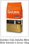 Golden Cão Adulto Mini Biits Salmão e Arroz 15kg